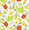 tea pattern vector image vector image