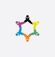 teamwork people group symbol element logo sign vector image vector image