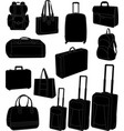 travel bags and suitcases vector image vector image
