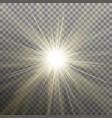 white glowing light burst explosion transparent vector image vector image