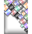 Abstract colorful buttons background vector image