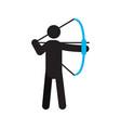 archer silhouette icon vector image