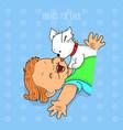 baand puppy love design vector image vector image