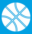 basketball ball icon white vector image