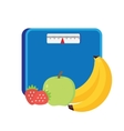 Bathroom scale isolate over white background vector image vector image