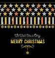 black christmas card with golden and silver vector image