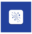 blue round button for star shooting star falling vector image