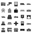 burg icons set simple style vector image vector image