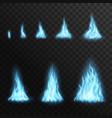 burning gas blue fire flame campfire blaze vector image vector image