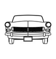car front view black and white vector image vector image