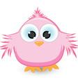 cartoon pink sparrow vector image vector image