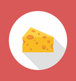 Cheese flat style icon vector image vector image