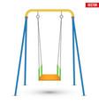 Children swing front view vector image