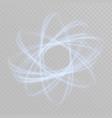 circular lens flare transparent light effect vector image