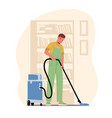 cleaning company service concept male character vector image