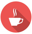 coffee cup - icon with long shadow vector image vector image