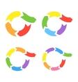 Color Circle Arrows Set vector image vector image