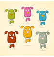 Colorful Dogs Set vector image vector image