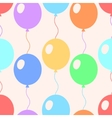 Colorful pastel balloons flat style seamless vector image