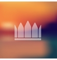 crown icon on blurred background vector image