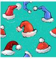 cute colorful seamless pattern santa s hats vector image vector image