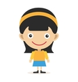Cute little girl cute vector image vector image
