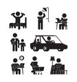 daily routine icons active person lifestyle vector image