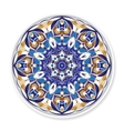 Decorative plate with round ornament vector image vector image