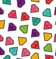 Diamond stone stitch patch pattern in fun colors vector image