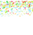 falling bright confetti abstract background vector image vector image