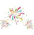 Fireworks different colors vector image
