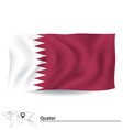 Flag of Quatar vector image vector image