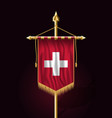 flag of switzerland festive vertical banner wall vector image vector image