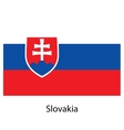 Flag of the country slovakia vector image