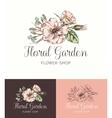 Flower Logo Shop vector image vector image
