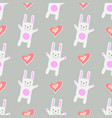 gentle print seamless pattern funny cartoon white vector image vector image