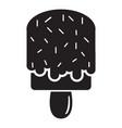 glaze ice cream icon simple black style vector image vector image
