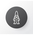 Gnome icon symbol premium quality isolated dwarf