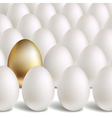 gold egg concept vector image vector image