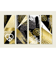 Gold hand drawn abstract art set vector image vector image