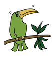 green bird vector image