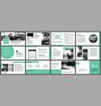 green presentation templates for slide vector image vector image