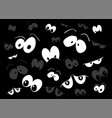 halloween spooky scary eyes design isolated on vector image vector image