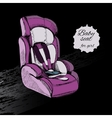 hand drawn baby seat for girl Baby in car vector image vector image