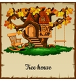 House of ancient woodland vector image vector image