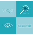 Icon eyes with a magnifying glass Logo Search vector image