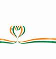 indian flag heart-shaped ribbon vector image