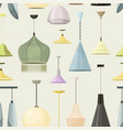 lamps sign set for interior pattern vector image vector image