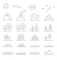 Landscape line elements vector image vector image
