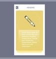 marker mobile vertical banner design design vector image